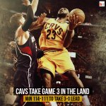 LeBron puts up video game numbers (37 pts, 18 rebs, 13 asts) & the Cavs take a 3-0 lead after their OT win vs. ATL! http://t.co/UHeSoimSy2