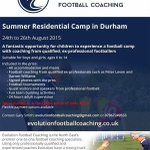 SUMMER RESIDENTIAL CAMP IN DURHAM 24-26th Aug. Pro #coaching from our team of ex pros. See flyer for details. Pls… http://t.co/18yUj3jAhd