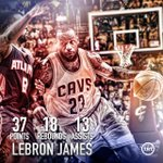 Another day at the office for @KingJames! LeBrons TRIPLE-DOUBLE leads the @cavs to an OT victory & 3-0 series lead! http://t.co/MsMbBRnypV