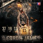 .@KingJames posted his 12th triple-double of his playoff career, passing @RealJasonKidd for 2nd place #NBAPlayoffs http://t.co/ZyGXQoyLoP