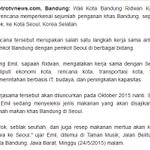 Kang @ridwankamil akan bawa Cilok, Seblak Seuhah, dan juga resep makanan mertua ke Seoul. http://t.co/STkp18b1di http://t.co/LTi6IX5kNQ