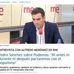 """12/09/2014: """"No pactaremos con el populismo"""". 25/05/2015: """"Trabajaremos por un gobierno de izquierdas"""". http://t.co/ElUeSpfF9M"""