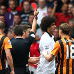 """Louis van Gaal calls Marouane Fellaini """"very stupid"""" after reckless red card. More here: http://t.co/QW5ZvglA7B http://t.co/pbGnE9H1ev"""