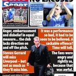 Mondays Liverpool Echo Sport: NO EXCUSES #LFC #Liverpool http://t.co/i9kGeFMer1