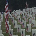 Honoring fallen heroes-volunteers place flags at 5,000 markers at Evergreen Washelli #MemorialDay #liveonkomo http://t.co/V4pSb8QqFb