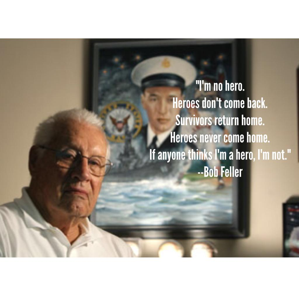 This Bob Feller quote comes to mind each Memorial Day. Thanks to all who have served or are serving. http://t.co/JvJLbr5hbN
