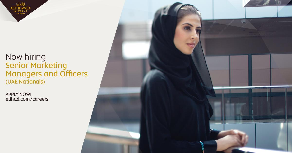 We're hiring UAE Nationals to join our marketing team in a range of positions. Know more: