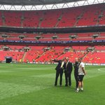 WEMBLEY   Our boys have arrived. Alex Neil & some of his staff take in the surroundings. #OurFinalStep http://t.co/2DGKhHd885