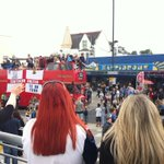Procession to celebrate @SUFCRootsHall moving up to 1st division #southend http://t.co/w8JWG1miNq