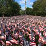 37,000 American Flags on the Boston Common in remembrance of fallen Massachusetts soldiers on this Memorial Day. http://t.co/6OGj9M6nC8