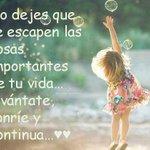 RT MichelPesquera: No dejes que se escapen las cosas importantes... ¡Buenos días! http://t.co/zfurRO4afk