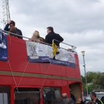@shrimperstrust banner supplied by @outstandingb in pride of place on the @SUFCRootsHall play-off winners parade bus http://t.co/Mif12U4bYD