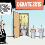 Finally, a solution to the leadership debate format (Cartoon credit: Greg Perry, Toronto Star) #cdnpoli #canpoli http://t.co/f4rZalRUce