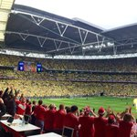Wembley really does look beautiful in yellow and green... #ncfc #pinkun http://t.co/0tR4x4LRbg