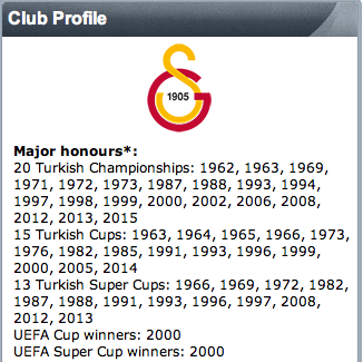 .@Galatasaray secured their 20th #Turkish league title, adding to their list of majour honours http://t.co/daBD34Pbd9 http://t.co/Qmsc7Oj2HF