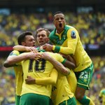 HALF-TIME Middlesbrough 0-2 Norwich. Early goals from Jerome & Redmond give the Canaries control in the #PlayOffFinal http://t.co/r3zWMZlcFq