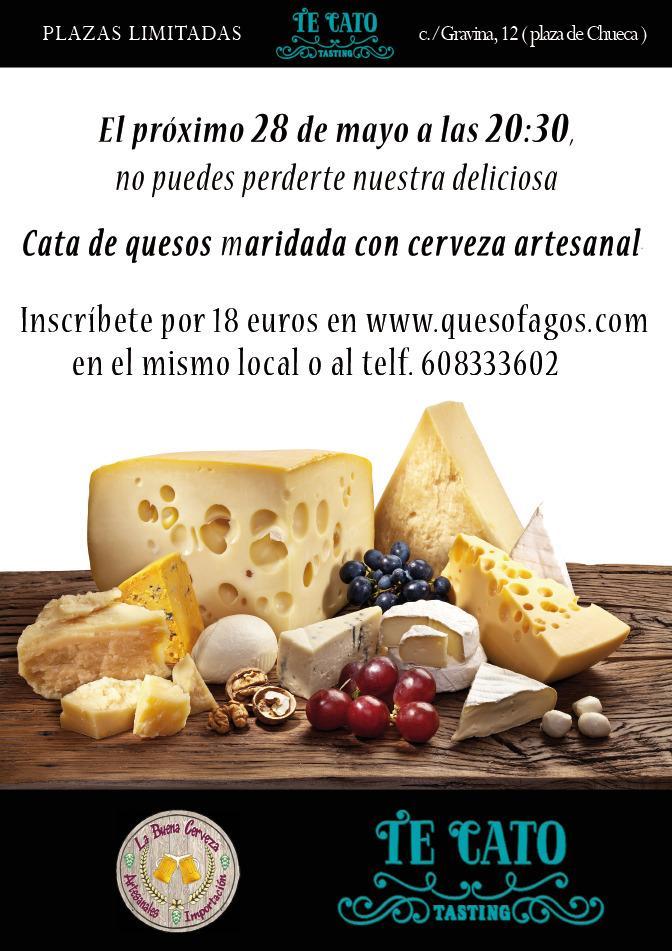 Cata de quesos y cerveza artesana, planazo para el jueves 28 #quesofagos @TeCatoGravina12 @hoy_en_madrid #callepelayo http://t.co/NM4pNwPOTm