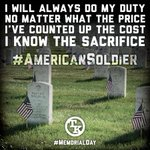 Remember those who have made the ultimate sacrifice. #AmericanSoldier #MemorialDay http://t.co/fh1U5eHQ4d