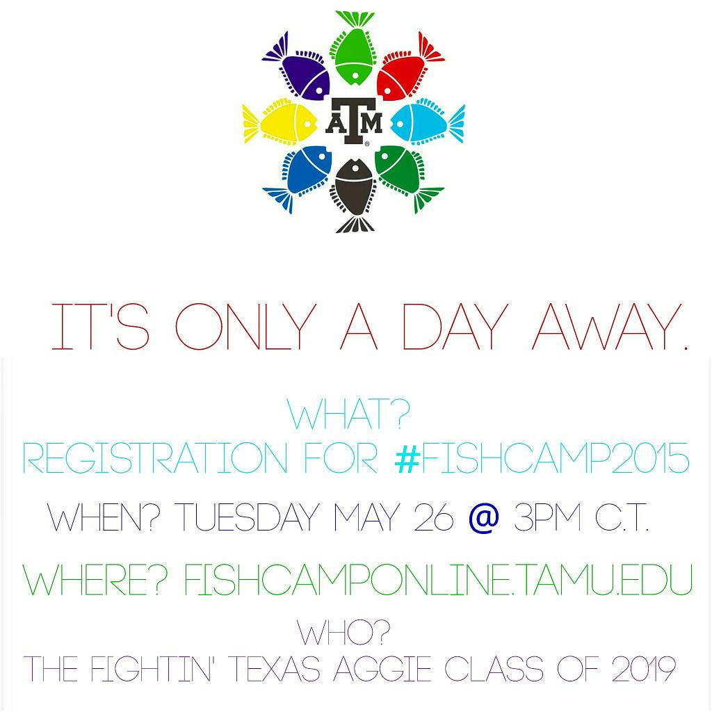 Tomorrow, tomorrow,  you'll register tomorrow. It's only A DAY AWAY!  #TAMU19 #register #TAMU #fishcamp2015 #fishcamp http://t.co/GGiGncpEWQ