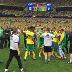 What a moment. Savour it. Norwich City are back in the @premierleague!! #OurFinalStep #NCFC http://t.co/5HTaprDXGX