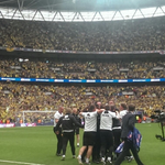 The moment when.... You win promotion to the Premier League @NorwichCityFC #ncfc http://t.co/kpQF87hsXj