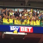 THERE IT IS! What a moment. Russell Martin lifts the trophy! #OurFinalStep #NCFC http://t.co/IvLX6lnMKv