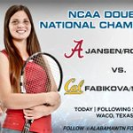 Todays the day! Erin and Maya go for their second straight NATIONAL CHAMPIONSHIP #RollTide #NCAAMWT http://t.co/iIy6HMzzoD