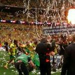PREMIER LEAGUE   The celebrations begin. #OurFinalStep http://t.co/Lub6iZbdKz