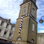 The steeple has its scarf! #MonTheBairns http://t.co/N9bnGKYnTE