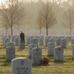 Eagle perched on a Veterans Headstone. Picture by Frank Glick - Fort Snelling National Cemetery. #MemorialDay http://t.co/pbKl7FcFyK