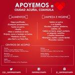 Tiende la mano a Ciudad Acuña, lleva alguno de estos artículos, ayudar un poco puede marcar la diferencia. http://t.co/6yzrlHPMAG