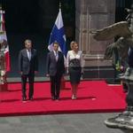 .@EPN recibe Sr. Sauli Niinistö Pte. #Finlandia. En el marco de su visita se firmará Memorándum en materia forestal http://t.co/js8tCWC73Z