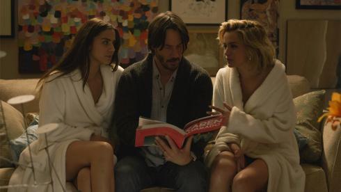 Keanu Reeves is terrorized in the new KnockKnock trailer. Watch:
