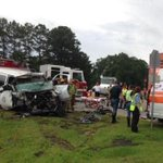 Emergency crews on scene of fatal wreck at Hwy 49 & JM Tatum, use caution in the area. http://t.co/0SdObZM4Yi