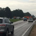 BREAKING: 18 wheeler and MDOC van crash on HWY 49 and J D Tatum Industrial Dr. in Forrest Co....1 confirmed dead http://t.co/rgtSE9ZX2J