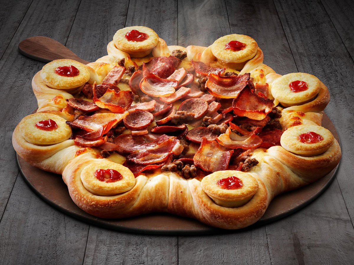 pizza hut creates pizza crust stuffed with 8 meat pies great ideas. Black Bedroom Furniture Sets. Home Design Ideas