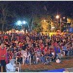#CerroCampeon partido en pantalla gigante en Pilar @Danymacica http://t.co/v5PtIBtPao