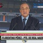 Carlo Ancelotti fue despedido del Real Madrid. Lo anunció hoy Florentino Pérez en conferencia. http://t.co/2nYtOb7Xdf http://t.co/sEOxTQhYnK