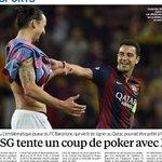 """""""Le #PSG tente un coup de poker avec... Xavi !"""" Paris aimerait se faire prêter Xavi pendant un an (Le Parisien) http://t.co/gGQsbBgO9E"""