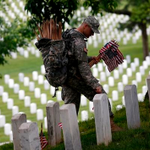 Soldiers place flags at Arlington National Cemetery: http://t.co/C1helOImKk http://t.co/5vn0Y4apxi