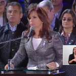 """[AHORA] @CFKArgentina: """"Van a venir muchos más 25 de mayo donde el pueblo estará feliz"""" > http://t.co/GYiXqQWnBq http://t.co/2mDuGkhHo4"""