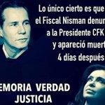 #CadenaNacional Quiero recordar que lo único cierto es que el Fiscal Nisman denunció a CFK y apareció con un tiro. http://t.co/CBMKA4DUcu