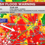 FLASH FLOOD EMERGENCY DECLARED FOR PARTS OF HOUSTON, SUGAR LAND! STAY OFF THE ROADS! http://t.co/XCJFnartCc