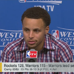 """""""It could have been a lot worse."""" Steph Curry on his fall in the 2nd quarter #LIVEonSC http://t.co/I0uuNAyhtS"""