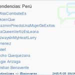 Angie Arizaga acaba de convertirse en TT ocupando la 9ª posición en Perú. Más en http://t.co/L3yjxLmNVJ http://t.co/dUygyjhkth
