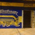 MURAL EN HOMENAJE AL 75° ANIVERSARIO DE LA BOMBONERA. http://t.co/XuHpBgi1YP
