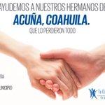 Nos unimos a nuestros amigos de Acuña por la terrible tragedia Donativos BANORTE 4422 a nombre Municipio de Acuña. http://t.co/j2TTWbXrkE