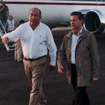 Recibimos en #Coahuila al Presidente @EPN para hacer recorrido por las zonas afectadas por el tornado en #Acuña. http://t.co/UCMkkB7v04
