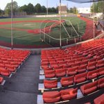 Orange seats were installed at Illinois Field today for reserved seating areas. Looks Great! @IlliniBaseball #illini http://t.co/Hb22iVj4dJ