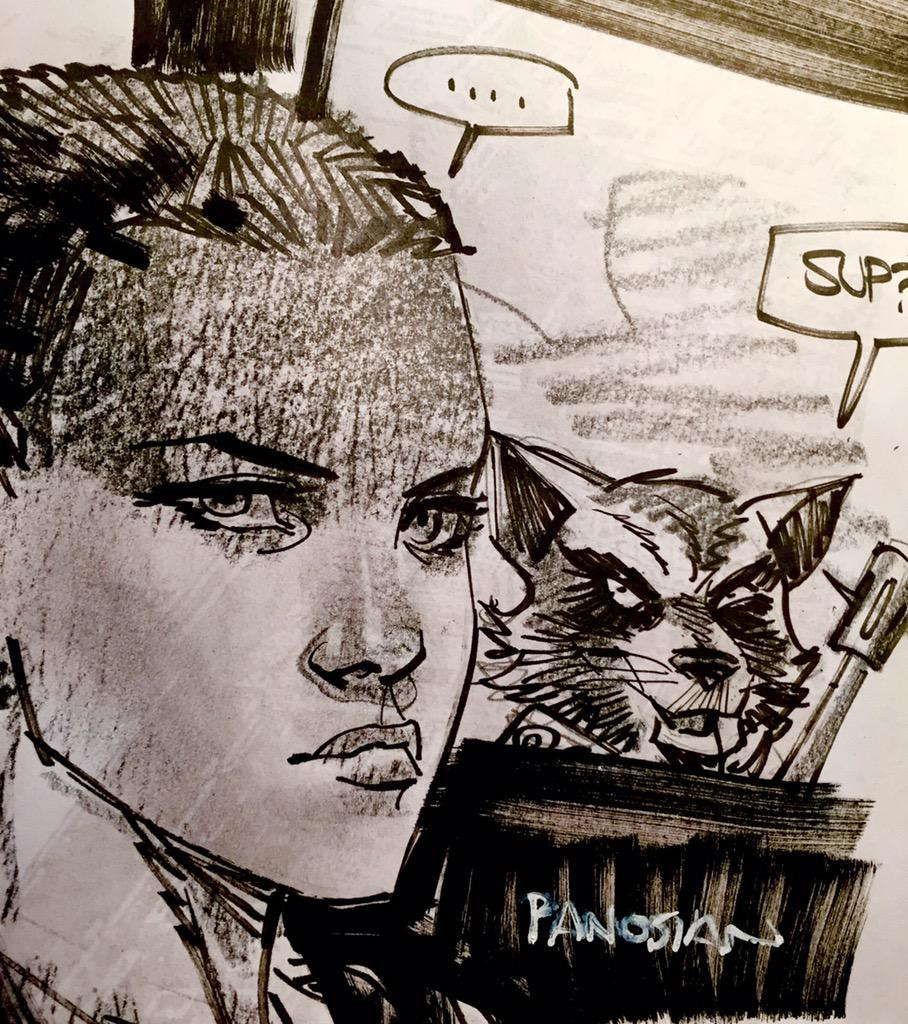 At last. Furiosa and Rocket Raccoon. The internet needed this I suppose. http://t.co/zwCOWgW00A